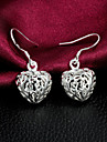 """2015 Fashion 925 Sterling Silver Noble """"Heart""""Drop Earrings Wedding Party  Daily For Woman&Lady"""