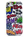 Bam Boom Doodle Plastik błyszczący wzór Case Powrót do iPhone 5c