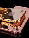 Coque Pour iPhone 5 Apple Coque iPhone 5 Plaque Miroir Coque Couleur unie Dur Acrylique pour iPhone SE/5s