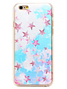 Star Stickers Pattern Transparent PC Back Cover for iPhone 6 Plus