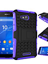 TPU+ PC Hybrid Rugged Rubber Armor stand Hard Cover Cases For Sony Xperia Z2/Z3/Z3 Mini/Z4/Z4 Mini/E4/E4G