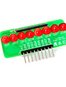 8-conduit bande de lumiere rouge module de microcontroleur - vert + rouge