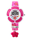 Children\'s Bracelet Watch Fashion Watch Digital LED PU Band Charm Pink Purple