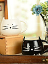 "300ml Black And White Cute Cat Animal Cup Creative Water Mug(5.1""x4.3""x3.7"")"
