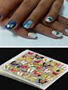 4 pcs Панк / Мода Украшения для ногтей / 3D-стикеры для ногтей Повседневные / ПВХ