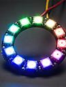 ws2812 5050 12-led rgb pokładzie rozwoju okrągłe lampy - czarny