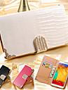 Coque Pour Samsung Galaxy Samsung Galaxy Note7 Porte Carte Portefeuille Strass Avec Support Clapet Coque Integrale Couleur unie faux cuir