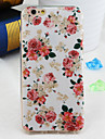 Pink Flowers Pattern TPU Soft Back Cover for iPhone 6s 6 Plus