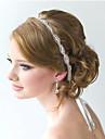 Dames Vintage Bruiloft Met de Hand Gemaakt Bloem Kristal Zirkonia Strass Kristal Haarbanden Haarsieraden
