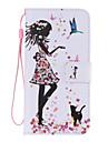 Para Samsung Galaxy Capinhas Carteira / Porta-Cartao / Com Suporte / Flip Capinha Corpo Inteiro Capinha Mulher Sensual Couro PU SamsungS6
