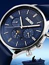 SKMEI Homme Montre Bracelet Quartz Quartz Japonais Calendrier Etanche Cuir Bande Charme Noir Bleu Marron