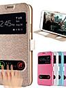 Für Samsung Galaxy Hülle Hüllen Cover mit Halterung mit Sichtfenster Flipbare Hülle Handyhülle für das ganze Handy Hülle Volltonfarbe