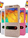 Double Windows Silk Pattern Leather Full Body Case with Card Slot for Samsung Galaxy Note 3(Assorted Colors)