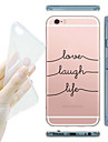 Etui Til iPhone 7 / iPhone 7 Plus / iPhone 5 iPhone 5 etui Transparent / Mønster Bagcover Tegneserie Blødt TPU for iPhone 7 Plus / iPhone 7 / iPhone SE / 5s