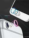 высокое качество металла домашняя кнопка кольцо крышки защитник круг + алюминиевого сплава крышка объектива кожух для iPhone 6 / 6с