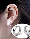 Men's Women's Stud Earrings Hoop Earrings Birthstones Simple Style Bridal Sterling Silver Alloy Jewelry Jewelry For Wedding Party Daily