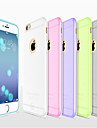 Case For Apple iPhone 8 iPhone 8 Plus iPhone 6 iPhone 6 Plus Ultra-thin Frosted Translucent Back Cover Solid Color Soft Silicone for
