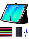 Case For Samsung Galaxy Tab A 9.7 with Stand Auto Sleep / Wake Flip Full Body Cases Solid Color Hard PU Leather for