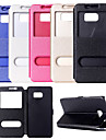 View Window PU Leather Flip Cover Case With Stand for Samsung S7/S7 Edge