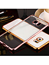 Case For Samsung Galaxy Samsung Galaxy S7 Edge Plating Transparent Back Cover Solid Color TPU for S8 Plus S8 S7 edge S7