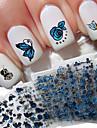 24 pcs Мода 3D-стикеры для ногтей Милый Повседневные