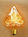 coracao forma do fio direto 40 w e27 220 v ampoule edison