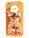 милый плюшевый случай животных пятнистый жираф для iphone6 / 6s iphone 6 случаев