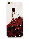 rouge jupes femmes diamant telephone shell reliefs peints sont valables pour puls iPhone6 | 6s puls