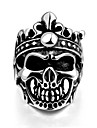 Men\'s Ring - Stainless Steel Skull Classic, European 8 / 9 / 10 Silver For Halloween Daily Casual