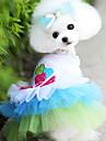 Собака Платья Одежда для собак Мода Сердца Синий Розовый Костюм Для домашних животных