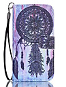 For Samsung Galaxy S7 Edge Wallet / Card Holder / with Stand / Flip Case Full Body Case Dream Catcher PU Leather Samsung S7 edge / S7
