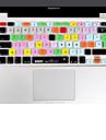 XSKN Cut Pro 7 silicone pele tampa do teclado definitivo laptop para MacBook Air de 13 polegadas, o MacBook Pro 13 15 17 polegadas, o