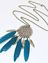 Women\'s Tassel / Long Pendant Necklace - Feather Personalized, European, Fashion Black, Blue Necklace For Party, Daily, Casual