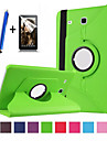 Case For Samsung Galaxy with Stand Flip 360° Rotation Full Body Cases Solid Color Hard PU Leather for Tab E 9.6