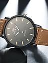 Мужской Модные часы Повседневные часы Кварцевый Кожа Группа Коричневый