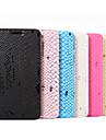 Capinha Para Samsung Galaxy Samsung Galaxy S7 Edge Porta-Cartao Carteira Com Suporte Flip Capa Protecao Completa Linhas / Ondas PU Leather