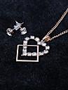 Miss ROSE®Zircon Heart Earrings & Necklace Jewelry Set