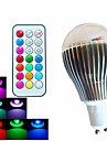 500lm GU10 LED Globe Bulbs A60(A19) 3 LED Beads High Power LED Dimmable Decorative Remote-Controlled RGB 100-240V
