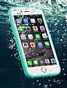 케이스 제품 Apple iPhone 6 iPhone 6 Plus 방수 뒷면 커버 한 색상 소프트 TPU 용 iPhone 6s Plus iPhone 6s iPhone 6 Plus iPhone 6