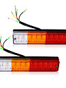 2x llevo luces traseras de freno de parada del remolque del camion barco caravana reverse indicador 12v