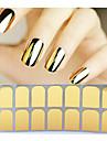 Абстракция-3D наклейки на ногти-Пальцы рук / Пальцы ног-14tips stickers-1pcs full cover adhesive nail sticker-ПВХ