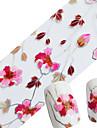 1pcs Autocollant de transfert d\'eau Glitter & Poudre Ruban a decaper Modele d\'estampage d\'ongles Quotidien Fleur Mode Haute qualite