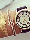 Жен. Часы со скелетом Часы-браслет Кварцевый Защита от влаги С гравировкой Кожа Группа Черный Белый
