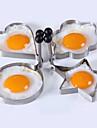 4pcs / lot quatre styles en acier inoxydable oeufs de peripheriques omelette de moule outils