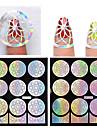 Moldes de Unhas Acrilicas 3D-Flor- paraDedo- dePVC- com1pcs hollow nail sticker template-9*10.5cm