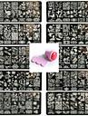10PCS 네일 아트 씰 템플릿 네일 레이스 pattren 1 세트 밀봉 도구 12x6cm를 제공
