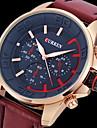 CURREN 남성용 밀리터리 시계 손목 시계 석영 일본 쿼츠 가죽 밴드 럭셔리 블랙 브라운 그레이