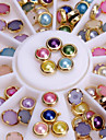 Colorized Alloy Nail Art Glitter Rhinestone Pearl Studs Stickers Decoration Tool