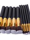 Pinceaux a maquillage Professionnel ensembles de brosses / Pinceau a Blush / Pinceau Fard a Paupieres Pinceau en Nylon Portable / Voyage / Economique Bois