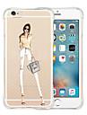 Для Кейс для iPhone 5 Прозрачный Кейс для Задняя крышка Кейс для Соблазнительная девушка Мягкий Силикон iPhone SE/5s/5